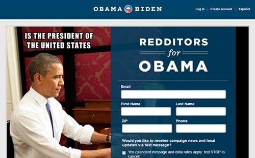 Trang Reddit của Obama