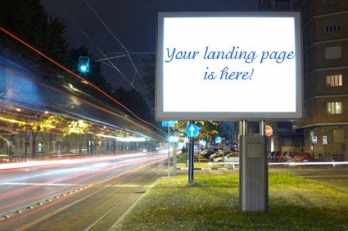 Landing page chính là bảng quảng cáo