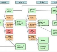 Biểu đồ mô tả từng đợt của chiến dịch
