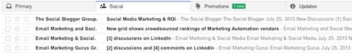 Các tab mới của Gmail