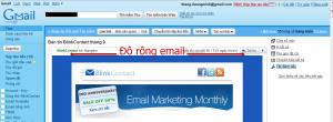 Độ rộng thích hợp khi thiết kế email marketing