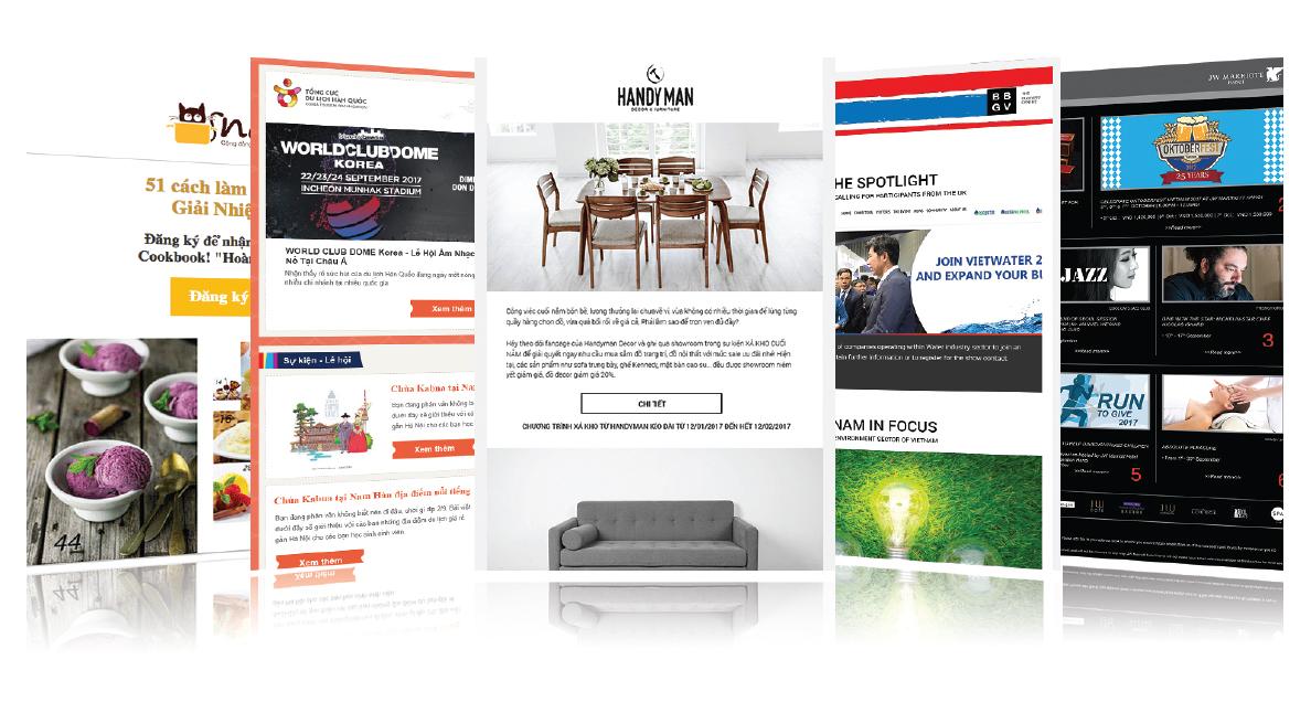 Mẫu thiết kế có sẵn trên Zetamail - Email marketing là gì