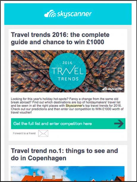 Email Marketing cho ngành du lịch - newsletter