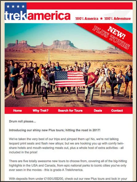 Email Marketing cho ngành du lịch - Email ra mắt sản phẩm / dịch vụ mới