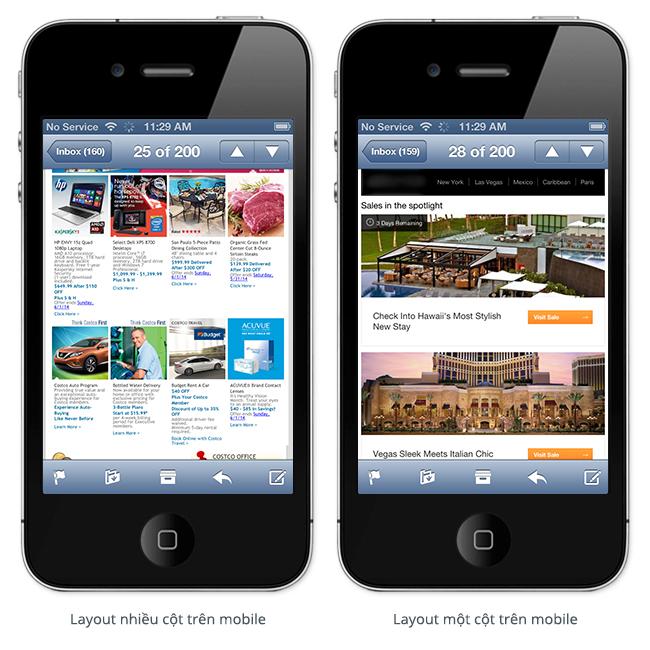 Tối ưu hóa email marketing trên thiết bị di động