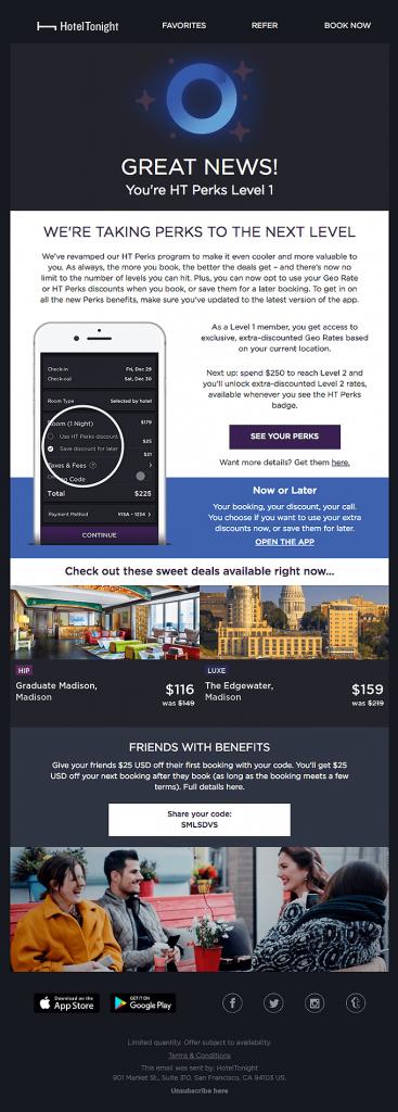 Great News - Email ưu đãi được cá nhân hóa dựa trên hành vi của khách hàng