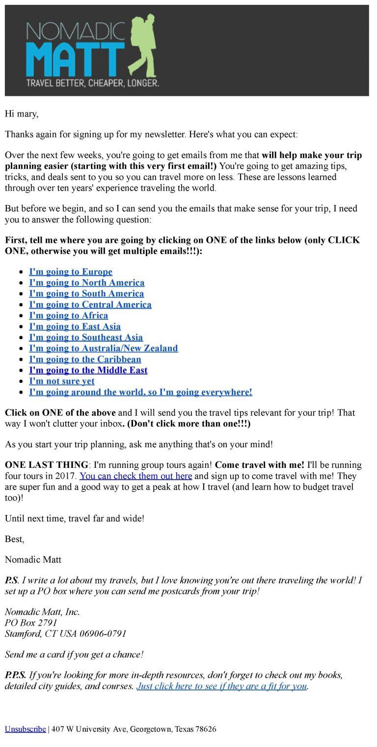 Email cung cấp nội dung giá trị