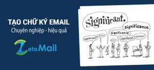 chữ ký email marketing