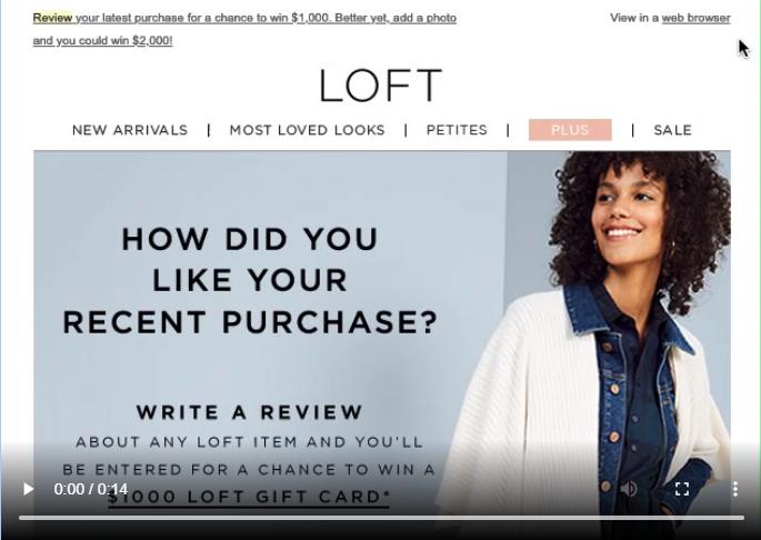 10 mẫu email marketing ấn tượng