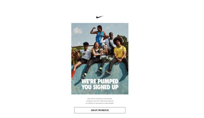 Thư chào mừng của Nike