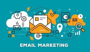 email marketing - orange & teal