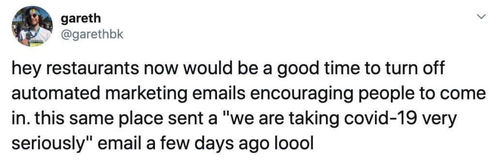 Nhắc nhở của khách hàng về covid-19 email