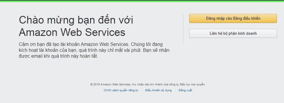 Amazon SES yêu cầu đăng nhập lại