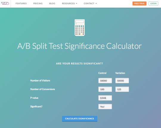 Công cụ xác định thử nghiệm A/B có ý nghĩa thống kê hay không