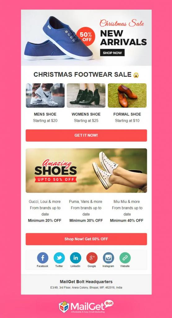 Mẫu Email Marketing cho kỳ nghỉ lễ